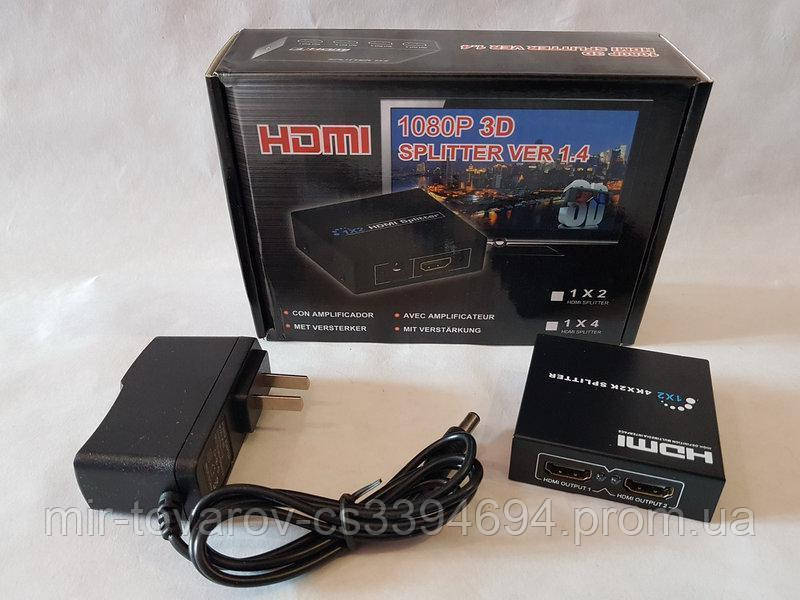 HDMI splitter 1x2 коммутатор на 2 выхода сплиттер 1080P