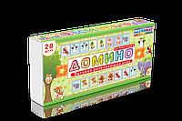 "Детская игра домино ""Зверюшки"" 1-093, детское лото,лото,детская настольная игра,детское домино"