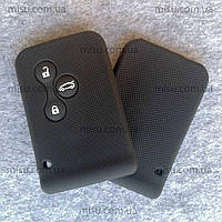 Чехол силиконовый для Ключ-карты с без ключевым доступом Renault Megane 2 Scenic 3 Grand Scenic 2 черный