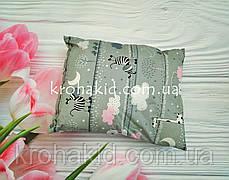 Прямоугольная подушка в детскую кроватку 35*45 см / подушка детская для детского сада