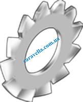 DIN 6798 тип A, шайба стопорная с наружными зубцами из нержавеющей стали