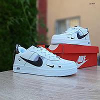 Женские кроссовки в стиле Nike Air Force LV8 белые, фото 1
