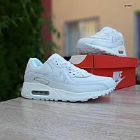 Женские кроссовки в стиле Nike Airmax 90 белые, фото 1