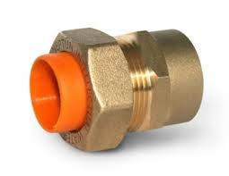 Муфта для газовой гофрированной трубы из нержавейки 15х1/2 внутренняя резьба Dispipe