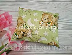 Прямоугольная подушка в детскую кроватку 45*35 см / подушка детская для детского сада