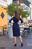 Синие женское платье миди на пуговицах р. 42, 44, 46, 48, фото 2