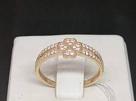 Золоте кільце з фіанітами. Артикул КВ933.5БИ 15