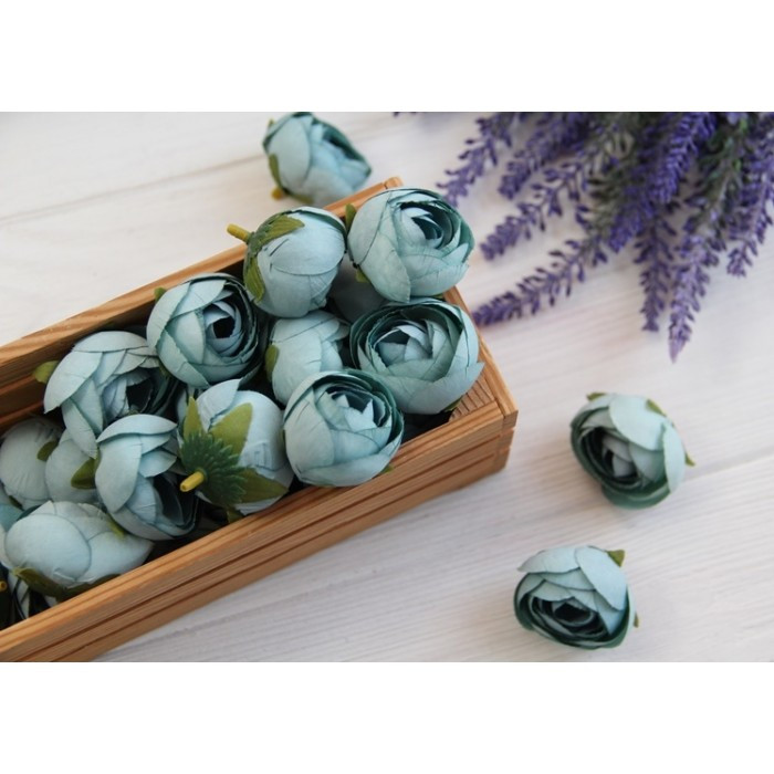 Ранункулюс бутон ,    серо - голубой                  100 шт