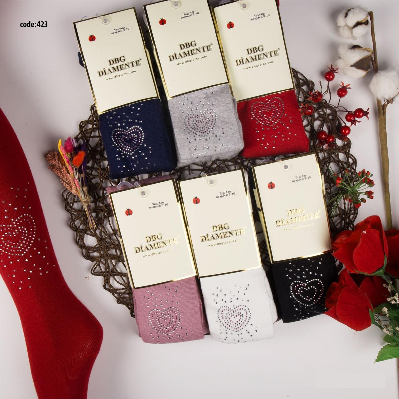 Бавовняні Колготки для дівчаток р. 9-10 років (134-140 см) ТМ DBG Diamente (кольори можуть відрізнятися!)