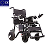 Алюминиевая легкая складная электроколяска для инвалидов D-6029 (6Ач), фото 3