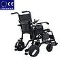 Алюминиевая легкая складная электроколяска для инвалидов D-6029 (6Ач), фото 4