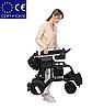 Алюминиевая легкая складная электроколяска для инвалидов D-6029 (6Ач), фото 6