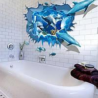 3D интерьерные виниловые наклейки, Дельфини