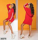 Женское спортивное худи-платье с капюшоном р. 42-46, фото 2