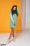 Женское спортивное худи-платье с капюшоном р. 42-46, фото 5