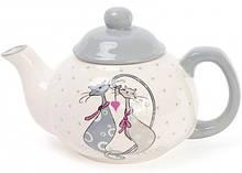 Чайник заварочный Bona Влюбленные коты 790мл, керамический
