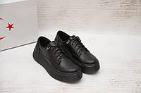 Женские туфли черные Ventaja натуральная кожа