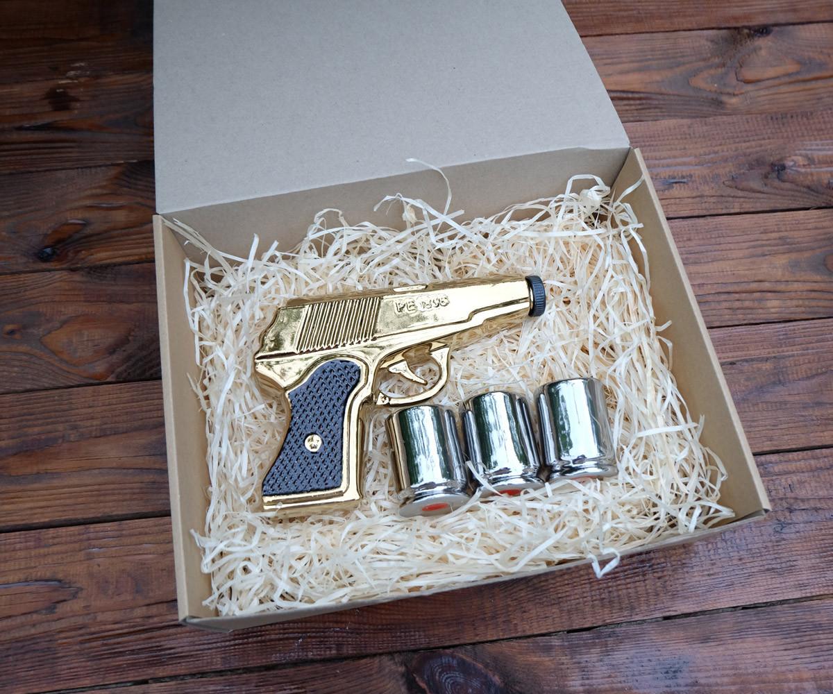 Золотой пистолет Макарова, ПМ - набор для спиртного