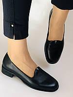 Polann. Жіночі туфлі-лофери на низькому каблуці. Натуральна шкіра. Р. 35, 36,37, 39, 40, фото 6
