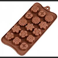 Силиконовая форма для конфет - Цветы