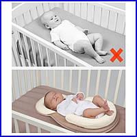 Матрас - кокон позиционер анатомический, подушка гнездышко для новорожденного.