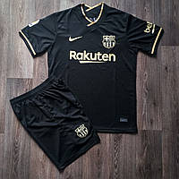 Футбольная форма Барселона выездная сезон 2020-2021 черная, фото 1