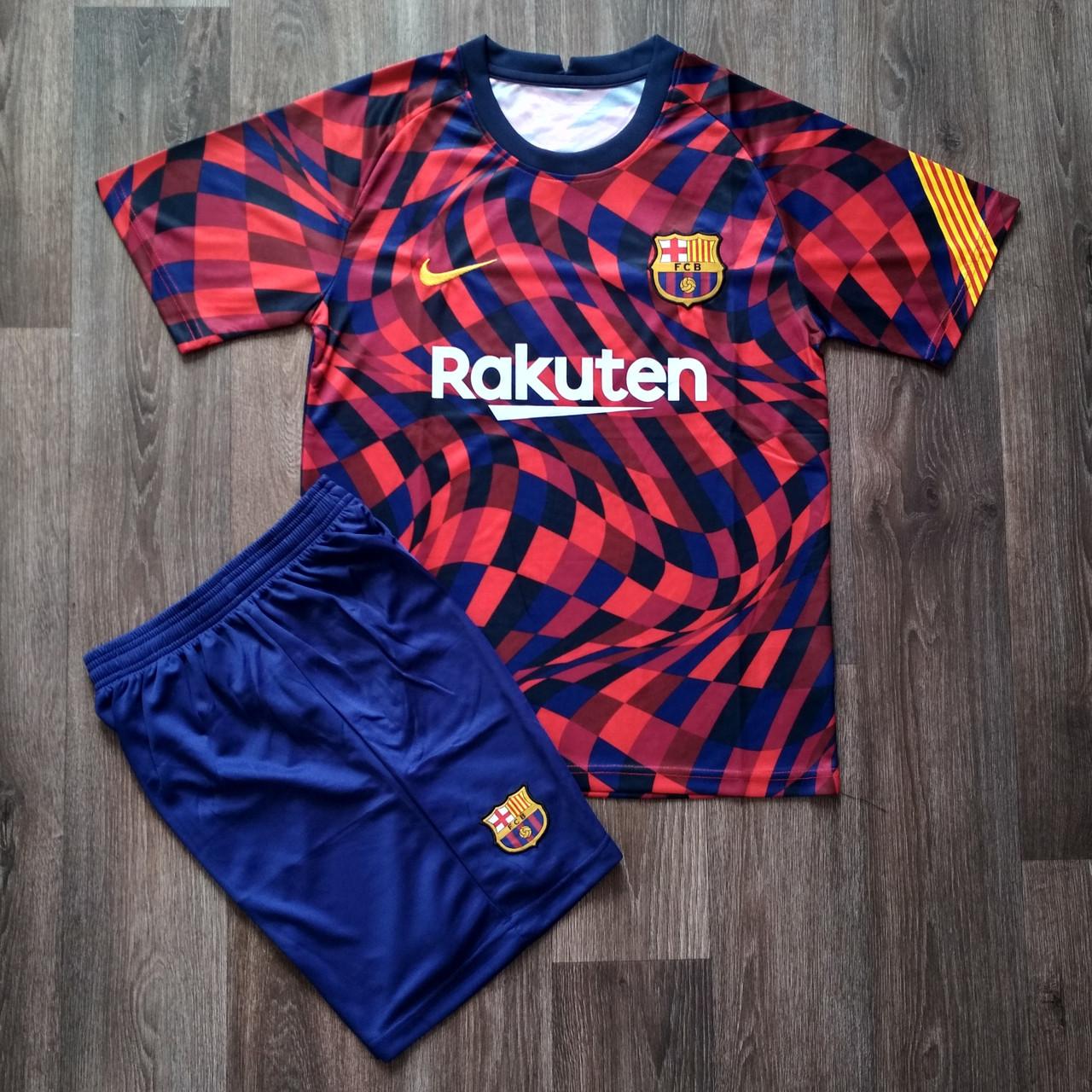Детская футбольная форма Барселона резервная сезон 2020-2021 красная