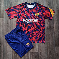 Детская футбольная форма Барселона резервная сезон 2020-2021 красная, фото 1