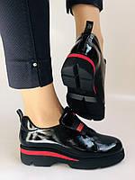 Женские туфли-лоферы. Натуральная лакированная кожа. Турция. Evromoda. Р. 37, фото 6