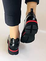 Женские туфли-лоферы. Натуральная лакированная кожа. Турция. Evromoda. Р. 37, фото 3