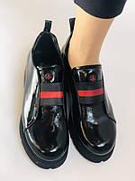 Женские туфли-лоферы. Натуральная лакированная кожа. Турция. Evromoda. Р. 37, фото 8