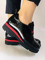Женские туфли-лоферы. Натуральная лакированная кожа. Турция. Evromoda. Р. 37, фото 2