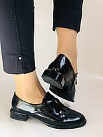 Стильні жіночі туфлі. Висока якість. Натуральна лакована шкіра. Невисокий каблук. Molka 35. 38.40, фото 5