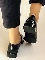 Стильні жіночі туфлі. Висока якість. Натуральна лакована шкіра. Невисокий каблук. Molka 35. 38.40, фото 10