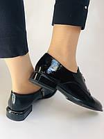 Стильні жіночі туфлі. Висока якість. Натуральна лакована шкіра. Невисокий каблук. Molka 35. 38.40, фото 7