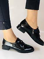Стильні жіночі туфлі. Висока якість. Натуральна лакована шкіра. Невисокий каблук. Molka 35. 38.40, фото 3