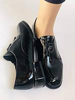 Стильні жіночі туфлі. Висока якість. Натуральна лакована шкіра. Невисокий каблук. Molka 35. 38.40, фото 8