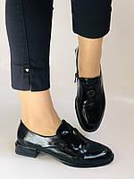 Стильні жіночі туфлі. Висока якість. Натуральна лакована шкіра. Невисокий каблук. Molka 35. 38.40, фото 2