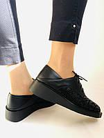 Стильні жіночі туфлі.Натуральна шкіра.Висока якість.Невисока танкетка.Erisses. 35-40, фото 8