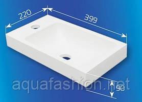 Накладний умивальник з литого каменю Fancy Marble IDA 40 см