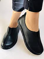 Жіночі осінні туфлі на широку ногу. Натуральна шкіра.Р. 36,38,39,40.Супер комфорт Vellena, фото 5