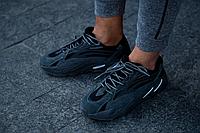 Мужские кроссовки Adidas Yeezy Boost 700 V2 в стиле Адидас Изи Буст Серые/Черные (Реплика ААА+)