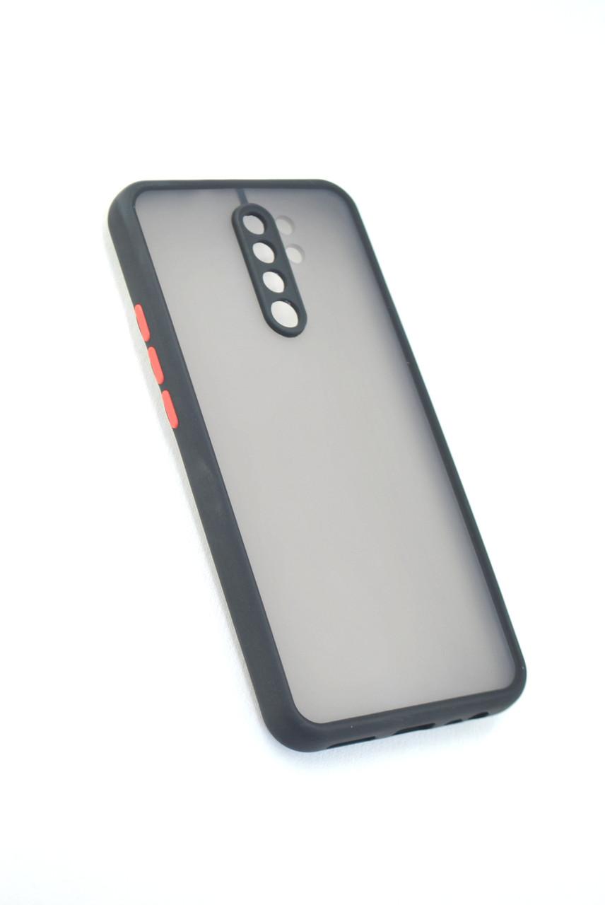 Чехол Xiaomi Redmi 9 Silicon Gingle Matte Black/Red