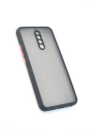 Чехол Xiaomi Redmi 9 Silicon Gingle Matte Black/Red, фото 2