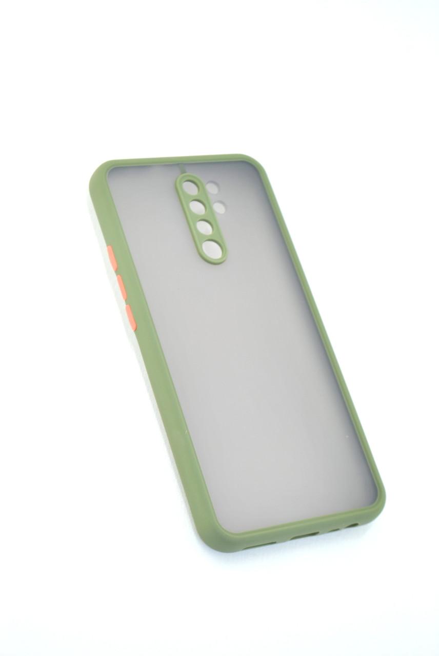 Чехол Xiaomi Redmi 9 Silicon Gingle Matte Dark Olive/Orange