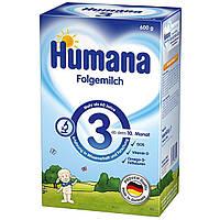 Сухая молочная смесь Humana 3 с пребиотиками галактоолигосахаридами, 600 г
