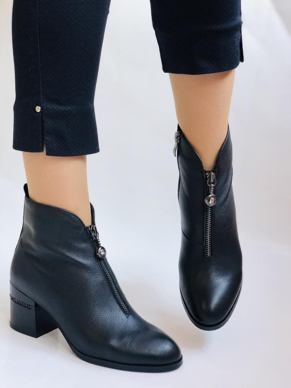 Женские демисезон. ботинки на среднем каблуке. Натуральная кожа.Высокое качество. Р.  34,35,37,38 Lottini