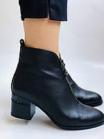 Женские демисезон. ботинки на среднем каблуке. Натуральная кожа.Высокое качество. Р.  34,35,37,38 Lottini, фото 4