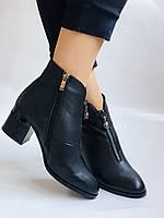 Женские демисезон. ботинки на среднем каблуке. Натуральная кожа.Высокое качество. Р.  34,35,37,38 Lottini, фото 2