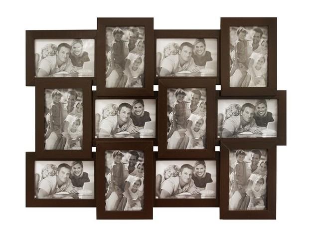 Мультирамка коричневая  (12 фото) ДЕРЕВО